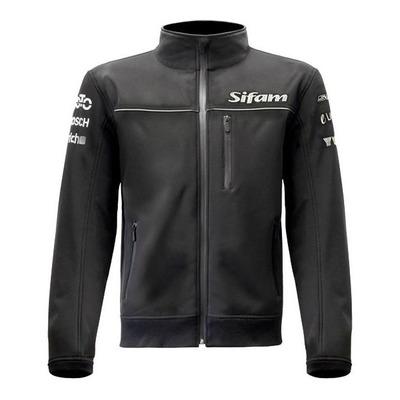 Blouson zip Sifam Moto Design Softshell noir