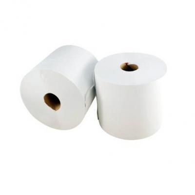 Bobine papier essuie mains 300m blanc (x2)