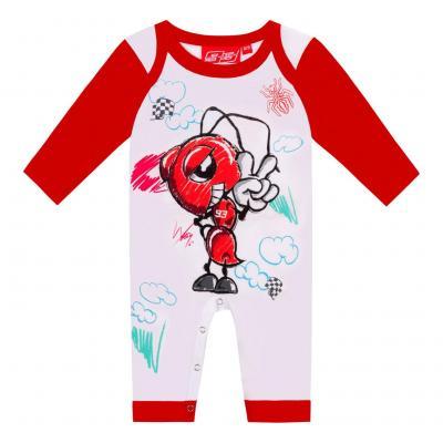 Body bébé Marc Marquez Ant Cartoon blanc/rouge