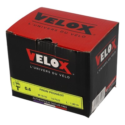 Boîte de 25 câble de frein Velox boule 8x8mm brun 15/10e 1.80m