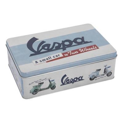 Boîte métal Vespa eblau/blanc (235x160x75mm)