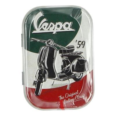 Boîte métal Vespa The Italiand Classic vert/blanc/rouge
