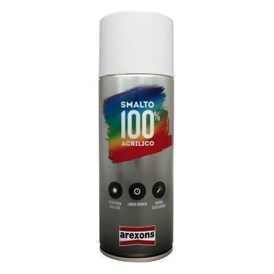 Bombe de peinture Arexons noir brillant 100% acrylique - 400 ml