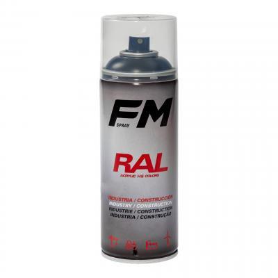 Bombe de peinture FM Spray Pro noir satiné 400ml