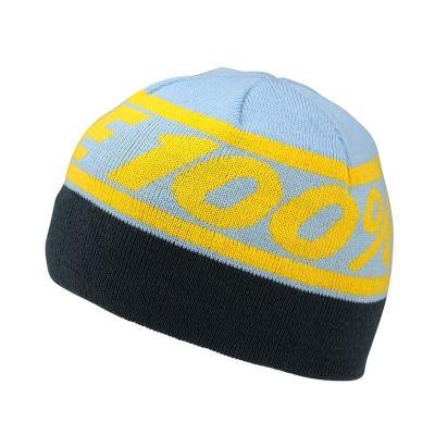 Bonnet 100% RALLY bleu/jaune
