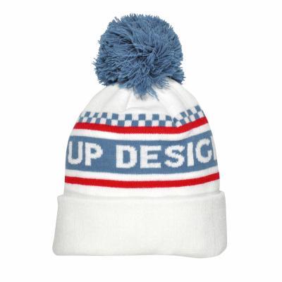 Bonnet Moraco UP Design blanc / bleu