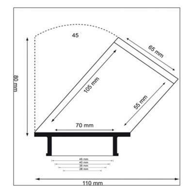 Bonnet sur-filtre Twin Air GP pour filtre cylindrique 45° Ø65 mm x 80 mm Pitbike