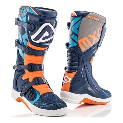 Bottes cross Acerbis X-Team bleu/orange