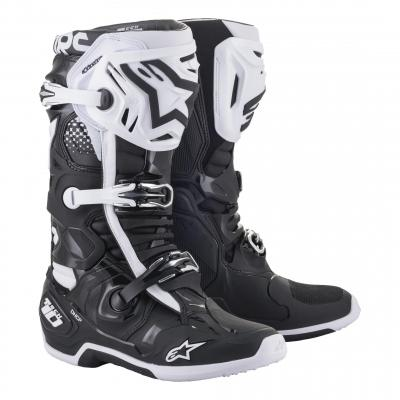 Bottes cross Alpinestars Tech 10 2021 noir/blanc
