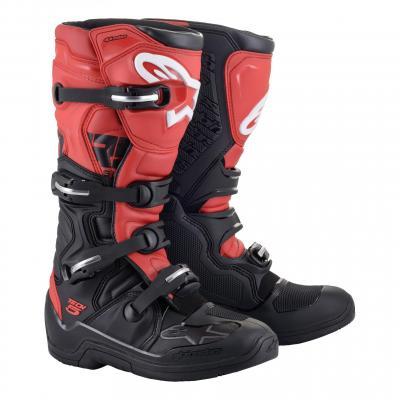 Bottes cross Alpinestars Tech 5 noir/rouge