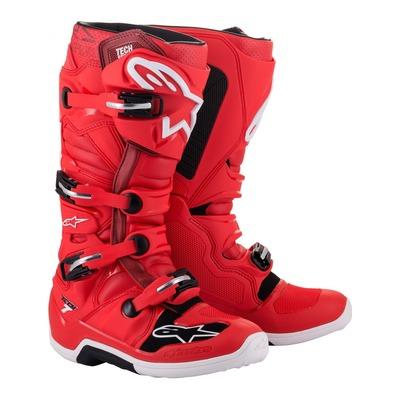 Bottes cross Alpinestars Tech 7 rouge