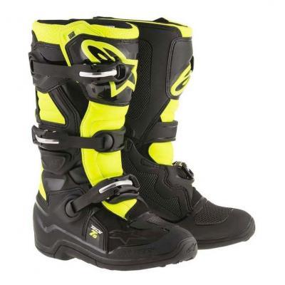 Bottes cross Alpinestars Tech 7 S noir/jaune fluo