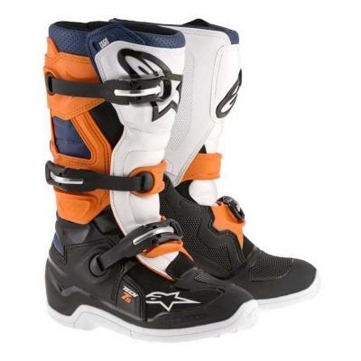 Bottes cross enfant Alpinestar Tech 7 S noir/orange/blanc/bleu