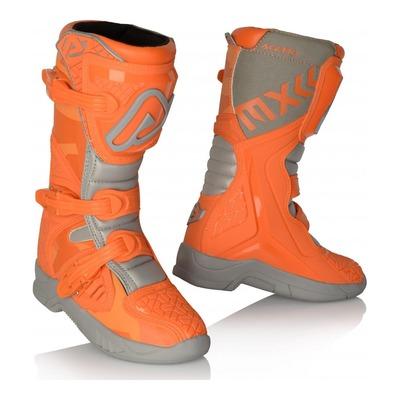 Bottes cross enfant Acerbis X-Team orange/gris