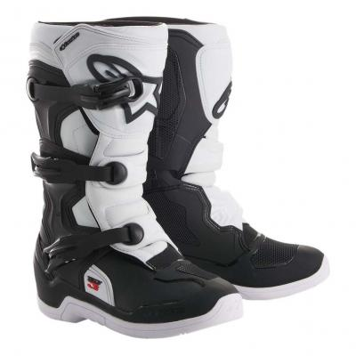 Bottes cross junior Alpinestars Tech 3S noir/blanc