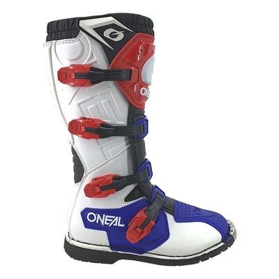 Bottes cross O'Neal Rider bleu/rouge/blanc
