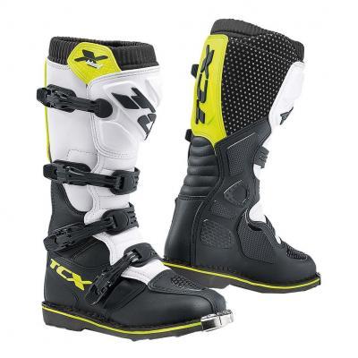 Bottes cross TCX X-Blast Nebg noir/blanc/jaune fluo