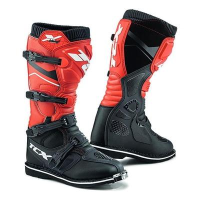 Bottes cross TCX X-Blast noir/rouge