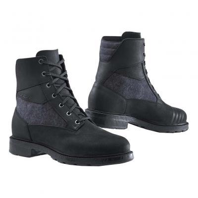 Bottes cuir/textile TCX Rook WP noir