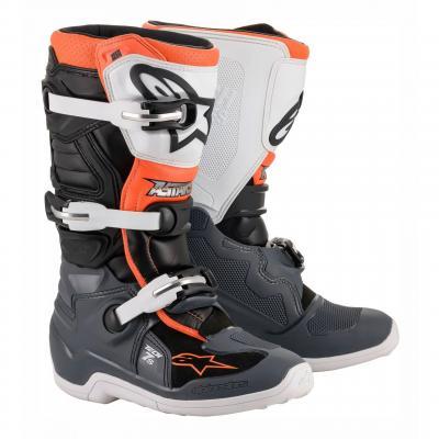 Bottes de cross Alpinestars Tech 7s noir/gris/blanc/orange fluo