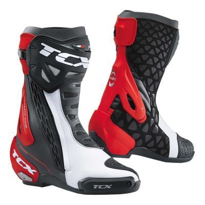 Bottes piste TCX RT-RACE Nebr noir/blanc/rouge