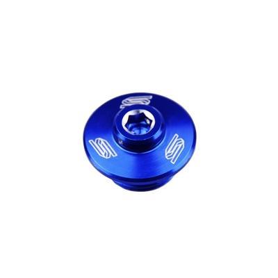 Bouchon de remplissage d'huile Scar aluminium bleu pour Yamaha YZ 125 97-16