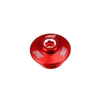 Bouchon de remplissage d'huile Scar aluminium rouge pour Honda CRF 250 R 04-16