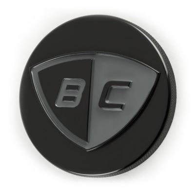 Bouchon de réservoir British Customs Low noir avec logo BC pour Triumph Thruxton 900 04-16