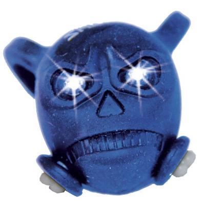 Bouchon de valve Skull bleu LED blanc