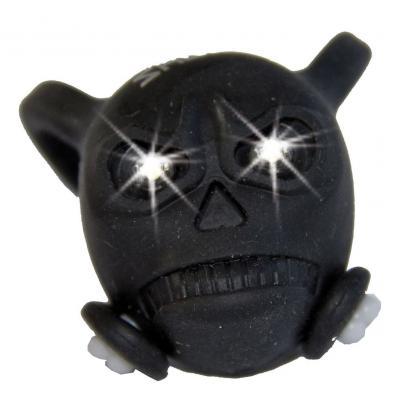 Bouchon de valve Skull noir LED blanc