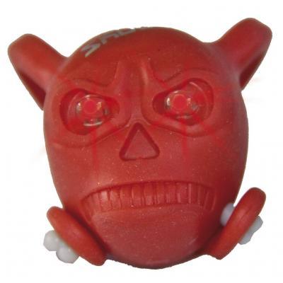 Bouchon de valve Skull rouge LED rouge