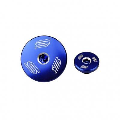 Bouchons de carter d'alternateur SCAR bleu Kawasaki KX450F 09-18