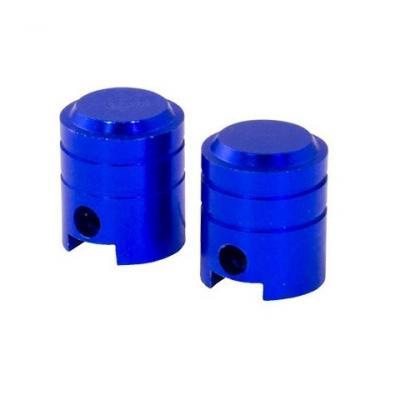Bouchons de valve forme de piston bleus