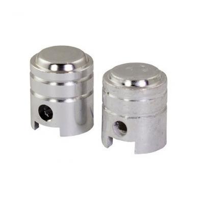 Bouchons de valve forme de piston chromés
