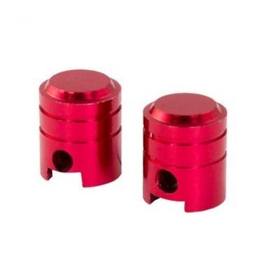 Bouchons de valve forme de piston rouges