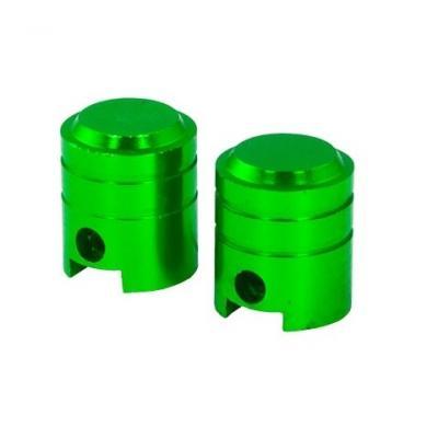Bouchons de valve forme de piston verts