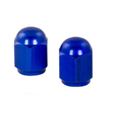 Bouchons de valve forme hexagonale bleus