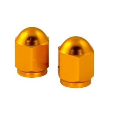 Bouchons de valve forme hexagonale ors