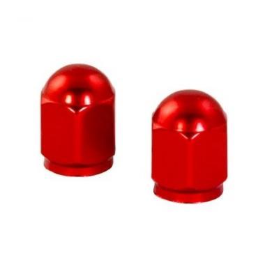 Bouchons de valve forme hexagonale rouges