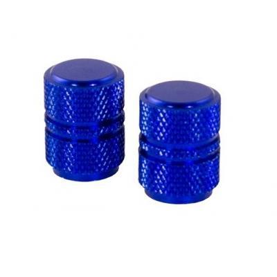 Bouchons de valve forme ronde bleus