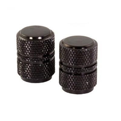 Bouchons de valve forme ronde noirs