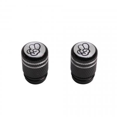 Bouchons de valve To Cool Molette noir (paire)