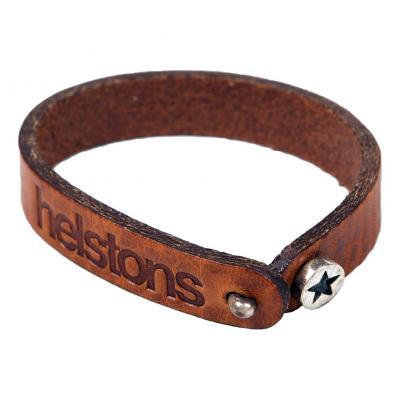 Bracelet cuir Helstons Star argent/tan