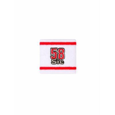 Bracelet Marco Simoncelli 58 Sic blanc/rouge