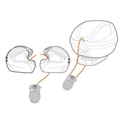 Câble antivol à combinaison Kappa pour casque