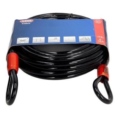 Câble antivol lasso antivol Abus Cobra 10m Ø10 mm noir/rouge