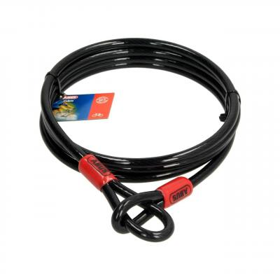 Câble antivol lasso antivol Abus Cobra 2m Ø8 mm noir/rouge