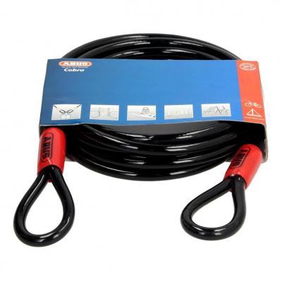 Câble antivol lasso antivol Abus Cobra 5m Ø10 mm noir/rouge