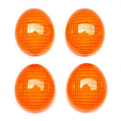 Cabochons clignotants avant et arrière orange Peugeot 50 Ludix/tkr furious/xp6
