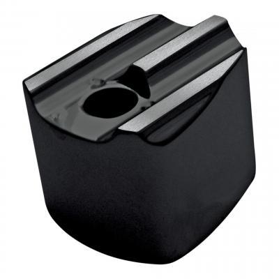 Cache bouton ignition Covingtons type origine noir rainures aluminium brossé Electra-Glide 07-13